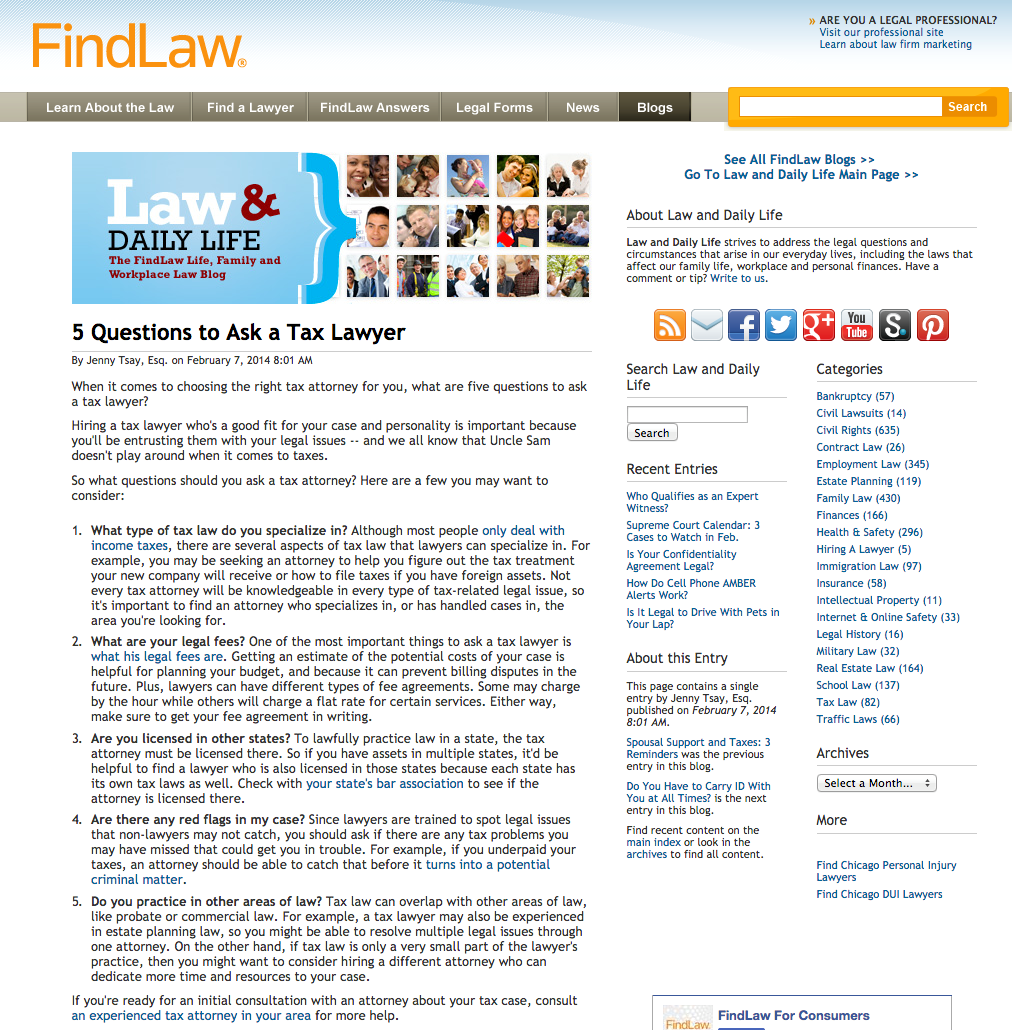 5 Questions to Ask a Tax Lawyer