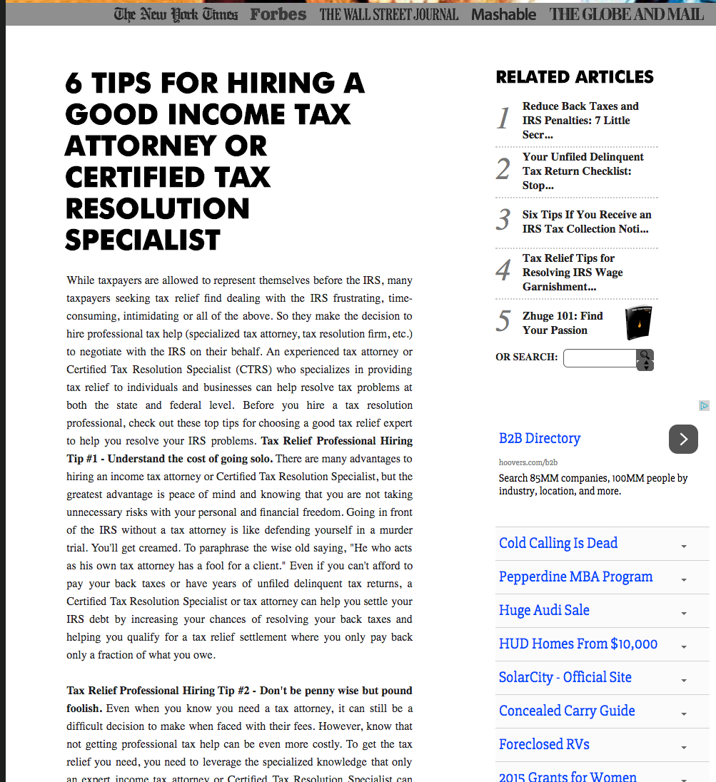 Three Tips For Hiring An Aggressive Minneapolis Tax Attorney