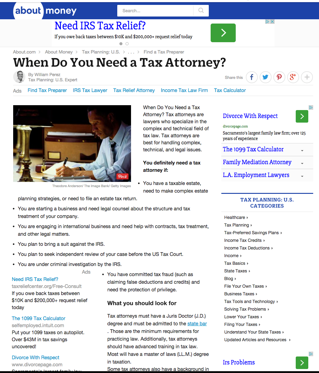 When Do You Need a Tax Attorney