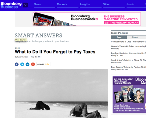 What to do if You Forgot to Pay Taxes – May 5, 2014 – Bloomberg Business